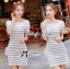 DR-LR-122 Lady Cherline Smart Casual Striped Lace Dress thumbnail 4