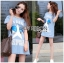 Lady Julie Sporty Style Printed and Sequin Denim Dress L254-75C01 thumbnail 9