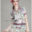 Gucci Sweet Sporty Floral Printed Jacket and Shorts Set L266-8504 thumbnail 7