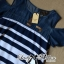 Lady Rita Casual Style Cut-Out Denim Striped Dress L213-65C05 thumbnail 10