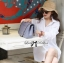 Lady Olivia Glam Chic Two-Way Shirt in White thumbnail 2