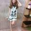 เดรสคอ V แขนกุดสกีนลายผู้หญิงญี่ปุ่น thumbnail 11