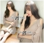 DR-LR-267 Lady Jane Classic Glam Smock Chiffon Dress in Beige thumbnail 2
