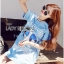 Lady Julie Sporty Style Printed and Sequin Denim Dress L254-75C01 thumbnail 10