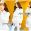 Lady Aurelie Minimal Chic Cotton Long Shirt with Lace Trim L247-69C06 thumbnail 13