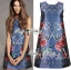 DR-LR-281 Lady Daria Mysterious Rosie Print Polyester Dress thumbnail 1