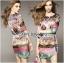 Lady Florence Hippie Chic Printed Satin Dress L191-75C07 thumbnail 8