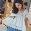 Lady Daphne Feminine Vintage Cotton and Lace Cropped Top L255-69B11 thumbnail 8
