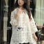 Lady Camilla Classic Feminine off- whiteLace Dress with Ribbon L249-79C03 thumbnail 9