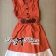 DR-LR-163 Lady Sasha Shirt Dress in Orange and White thumbnail 11