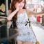 Lady Stephanie Pretty Embroidered Lace Mini Dress L155-69C14 thumbnail 2