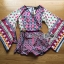 Issue Cassandra Colourful Printed Kimono Playsuit L261-6913 thumbnail 11
