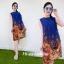 ZARA DRESS เดรสทรงยาว ผ้าโมจิพิมพ์ลายเชิง thumbnail 3