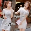 DR-LR-122 Lady Cherline Smart Casual Striped Lace Dress thumbnail 1