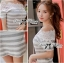 DR-LR-122 Lady Cherline Smart Casual Striped Lace Dress thumbnail 6