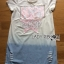Lady Tamara Street Chic Sequin Embroidered Jersey and Denim Dress L274-7516 thumbnail 16