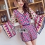 Issue Cassandra Colourful Printed Kimono Playsuit L261-6913 thumbnail 8