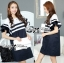 DR-LR-155 Lady Natasha Striped Dress in Navy Style thumbnail 11