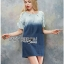 Lady Marina Cut-Out Pearl Embroidered Ombre Denim Dress L262-7908 thumbnail 8