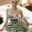 DR-LR-132 Lady Nicole Sexy Glam Strapless Houndstooth Dress thumbnail 1
