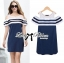DR-LR-268 Lady Isla Glam Chic Navy Blue Striped Dress thumbnail 2