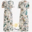 Daisy v-neck cream flower dress thumbnail 8