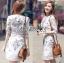 Lady Serena Smart Feminine Embroidered Cotton Dress L272-9914 thumbnail 3