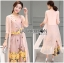 Lady Lydia Casual Feminine Butterfly Printed Set with Chiffon Maxi Outerwear L264-8501 thumbnail 4