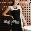 DR-LR-156 Lady Rachel Minimal Chic Ruffle Dress in Black and White thumbnail 8