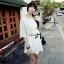 Dahong white chill out circle lace Mini dress L136-49A12 thumbnail 5