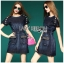 Lady Jeanne Rock Chic Studded Dark Denim Mini Dress L218-85E01 thumbnail 9