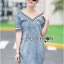 Lady Laura Sext Casual Deep V-Neck Denim Dress L205-69B08 thumbnail 1