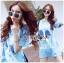 Lady Julie Sporty Style Printed and Sequin Denim Dress L254-75C01 thumbnail 1