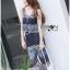 Lady Cassandra Casual Chic Striped Lace Tank Top and Pants Set L266-7911 thumbnail 5