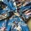 Lady Julia Electric Blue Floral Print Polyester Jumpsuit L127-69E08 thumbnail 7