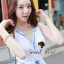 DR-LR-121 Chicly Cami White Dress Blue Retro Embroider Style thumbnail 6