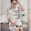 Lady Grace Graphic Embroidered Cut-Out Off-Shoulder Lace and Cotton Dress L264-7503 thumbnail 5