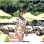 SM-V1-425 ชุดว่ายน้ำ เสื้อแขนสั้น+กางเกงบิกินี่ ลายขนนกสวย สีสันสดใส thumbnail 15