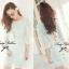 DR-LR-211 Lady Aqua Lace Cut-back Mini dress thumbnail 5