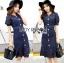 Lady Indigo Puff Sleeve Lace Dress L269-7905 thumbnail 1