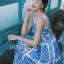 Dolce & Gabbana Italian White & Blue Printed Button-Down Dress L241-69B02 thumbnail 6