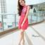 ิMartin dress เดรสสีแดงแบบเดียวกับคุนอั้มค่ะ ด้านหน้าเปนงานสกรีนลายดอก thumbnail 1