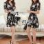 DR-LR-216 Lady Stella Femme Fatale Rose Print Dress thumbnail 4