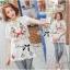 Spring Floral Vivid Embroidered Mini Dress, Korea thumbnail 11