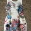 DR-LR-100 Mariane Gorgeous Ocean Print Bow V Back Dress thumbnail 7