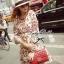 Lady Merry Blooming Print Glittery Mini dress L217-89E01 thumbnail 3