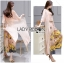 Lady Lydia Casual Feminine Butterfly Printed Set with Chiffon Maxi Outerwear L264-8501 thumbnail 11