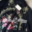 DR-LR-273 Lady Kate Flower Embroidered Shirt Dress in Black thumbnail 10
