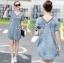 Lady Laura Sext Casual Deep V-Neck Denim Dress L205-69B08 thumbnail 3