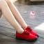 รองเท้าผ้าใบแฟชั่นแพลตฟอร์ม ทำจากผ้าใบสีทูโทนสดใสด้านนอก-ใน thumbnail 2